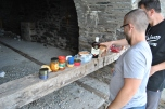 Manastirea Iviron - un pranz copios langa Manastire pe plaja