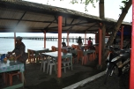Local restaurant in Penyengat Island